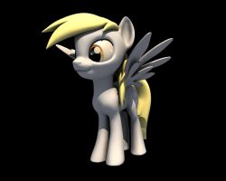 Coming back to Blender: Derpy Hooves by nothing111111