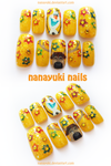 Olaf and Sven flowery nails by Nanayuki