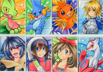 ORAS ACEO Set + Saber ACEO by Chibi-Nuffie