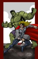 Hulk and Thor by ChrisMcJunkin