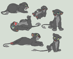Lion Cub Bases by AnarsAdoptionAgency