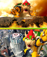 Giant Bowser goes Hollywood by Shady-Ace