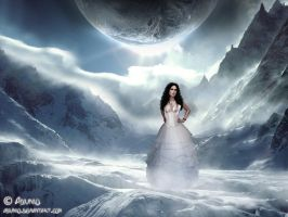 Ice Queen in her Ice Land by adunio