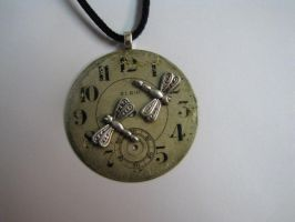 Steampunk Necklace Vintage Antique Elgin Watch Fac by bcainspirations