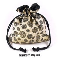 Eastern Runes Printed Cotton Satin Lined Dice Bag by Pasiphilo