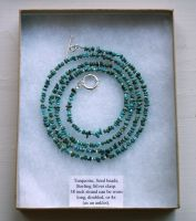 Extra-Long Turquoise Necklace by GraceStudios