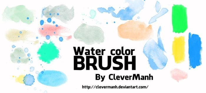 Brush 3 | Water color by CleverManh