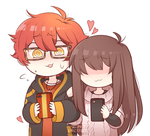 Mystic Messenger 707 and MC: Awkward Contact by SecretNarcissist