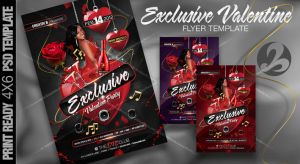 Exclusive Valentine Flyer Template by AnotherBcreation