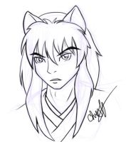 Inuyasha sketch by avadrea