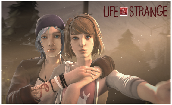 Life is Strange- Max and Chloe Selfie by M-ang