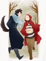 Sherlock crossover: little red riding hood by GorryBear