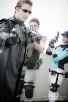 Albert Wesker ,Chris and Jill BSAA by DavidCosplay
