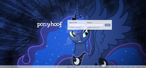 Facebook Ponified - Luna Log in by Angelicsweetheart