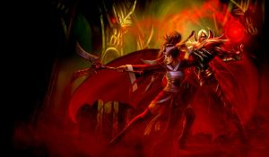 Blood Lord Vladimir and Red Moon Akali by Isabellefly