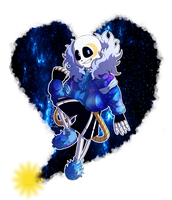 Art Trade - Night!Sans by LonicHedgehog