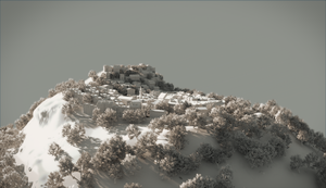 Mountain Top Town - Clay by DylserX