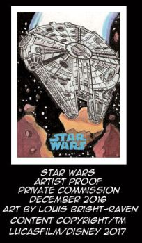 Star Wars Millenium Falcon AP Card by Bright-Raven