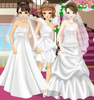 Love Triple Brides by kute89