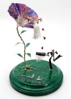 He Loves Me: Wedding Topper by stillifewithshadow