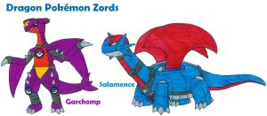 Dragon Pokemon Zords by MCsaurus