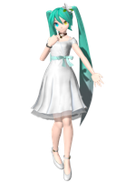 DT Extend White Eve Miku by Sushi-Kittie
