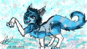 Snowing for FROST!!! commission by R-E-D-13
