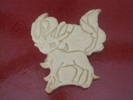 Leafeon Cookie Baked by B2Squared