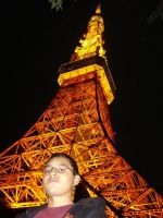 me at tokyo tower by castlehoff