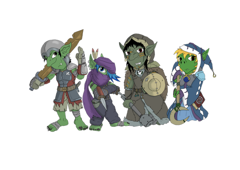 Goblin Party by scrap-paper22
