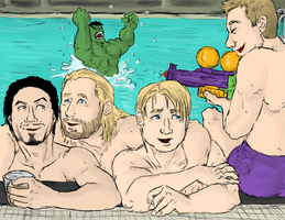 AVENGERS : pool by LadyNorthstar