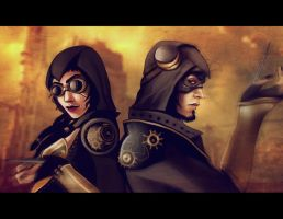 Steampunk Assassins by andrahilde