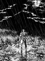 CONAN IN THE RAIN by benitogallego