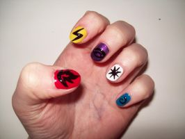 Pokemon Nails by BlueBlasta
