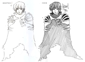 Sketch Inks Comparison - Havel by BunnyVoid