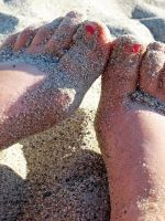 sandy toes in Malibu by venusflesh