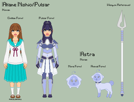 Stardust - Akane Reference Sheet + Astra by porcelian-doll