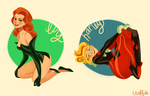 harley and ivy pinups by hotcake