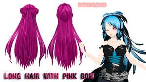hair long pink by mikuhatsunep02