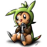 Chespin by Tailzkip