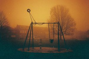 A girl and her swing by kutas