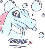 Totodile and Bubbles by MasterSuicune