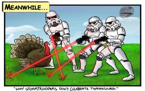 Why stormtroopers don't celebrate thanksgiving by SirGryphon