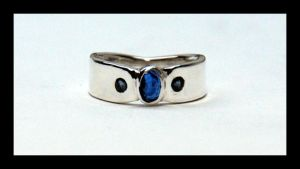 Kyanite Blue Sapphire Ring by manwithashadow