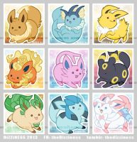 Eeveelutions GO! by dizziness