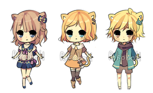 Neko adoptables (CLOSED) by Pekobell