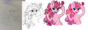 Step by Step of Pinkie Pie by Rizden