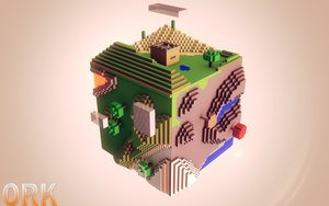 Minecraft Cube Biome by Ork24