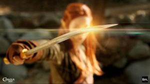 Tauriel and Sword by CORSIGLIA