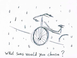 Positive thinking project - 2 cycling in the rain by miyuu1chan